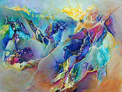 """""""Intrinsic Nature"""" 36"""" x 48"""" Acrylic on Canvas by Monika Wright. From Crescent Hill Gallery in Mississauga, ON"""