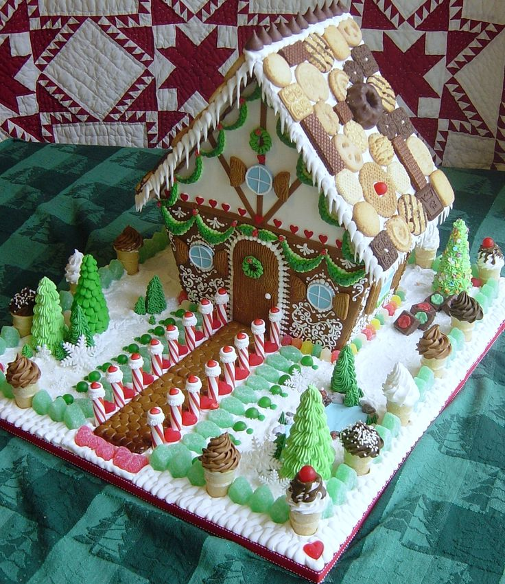 Alrighty - this is my goal for this years gingerbread house making event -- ha !  @Michelle Flynn Lee  - look out!