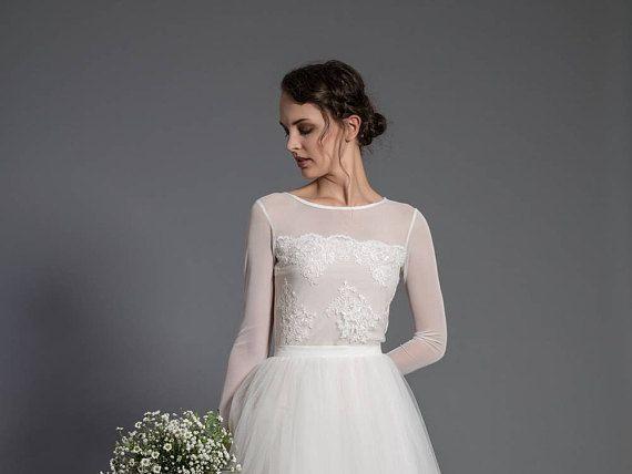 wedding top  elastic blouse  bridal top  wedding separates