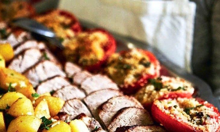 När vi trodde att vi hade ätit varmrätten på skördefesten i Frankrike så kom varmrätten. Det var som man brukar säga kött och potatis och det var himme