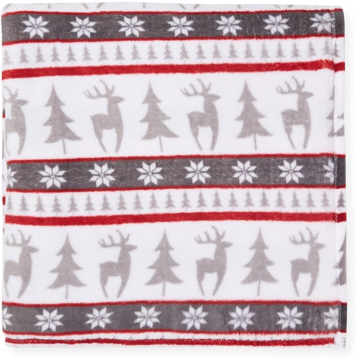 Elite Home Winter Nights Plushed Blanket