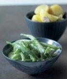 Zelené fazolky na smetaně s koprem