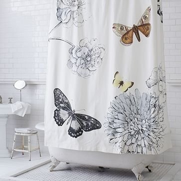 Butterfly shower curtain by Hikertexas
