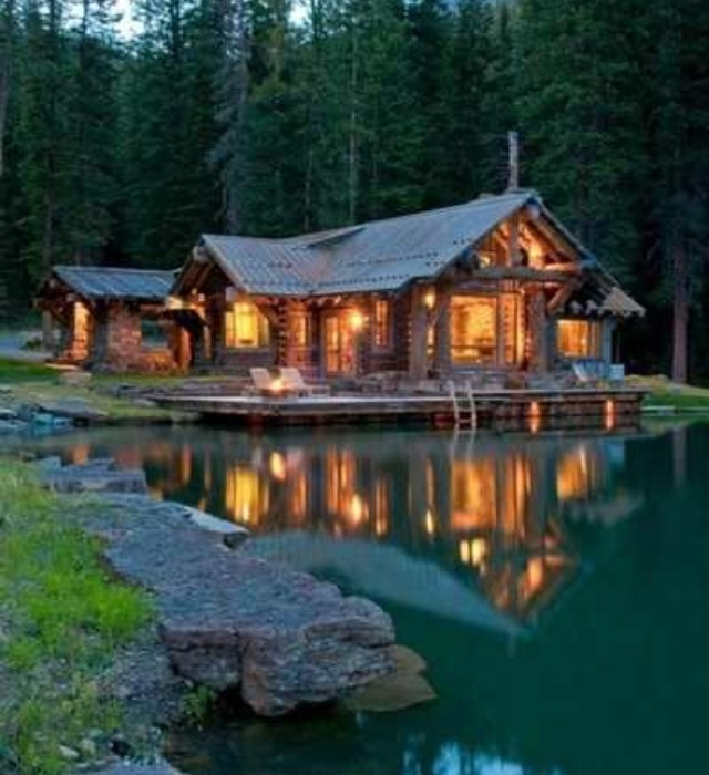 100 best images about dreamy vacations on pinterest - Small log houses dream vacations wild ...