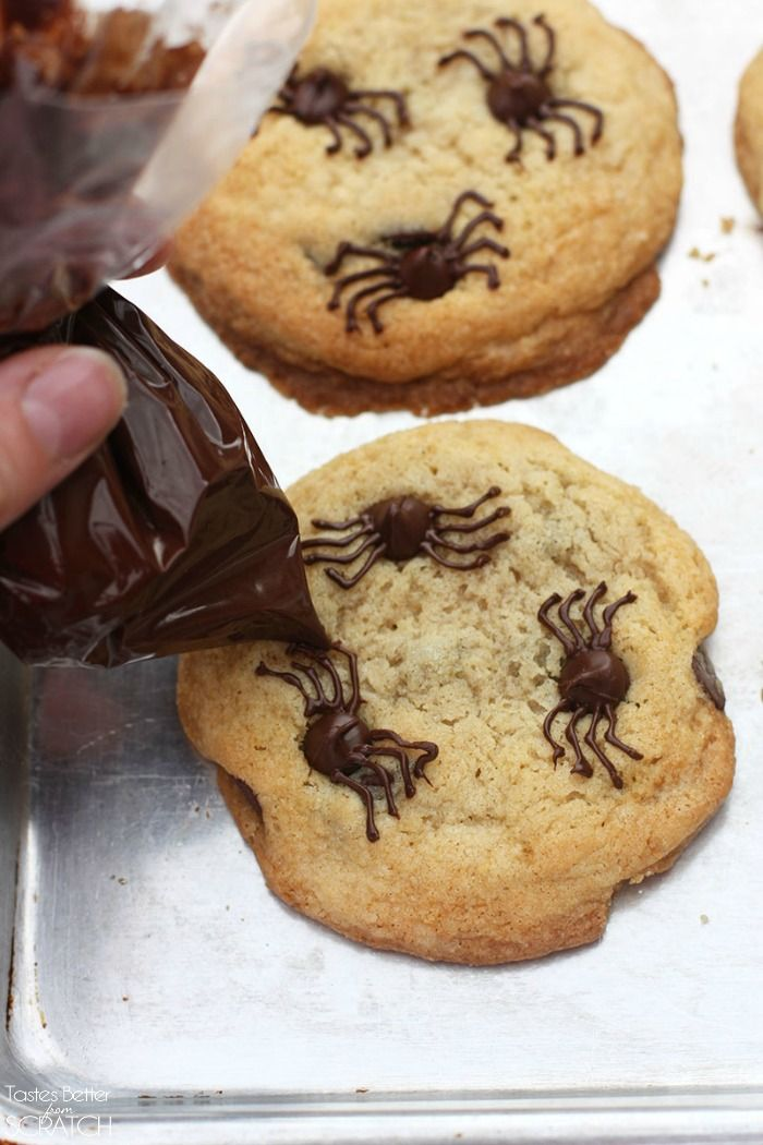 chocolate chip spider cookies recipe spider cookies spider and chocolate