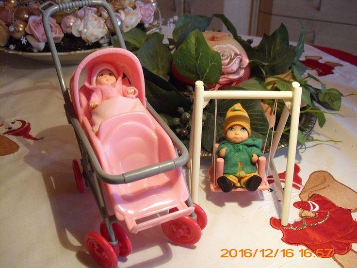 Barbie Baby und Barbie Kind, Schaukel,Zwillingswagen u .viel extra