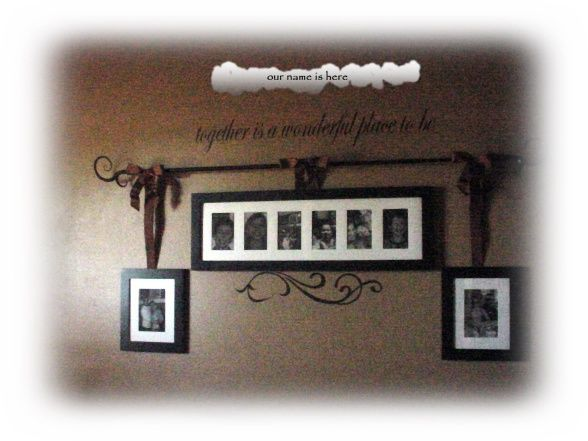 DOLLAR GENERAL DECO IDEAS | ... Dollar General curtain rod, ribbon I had and vinyl lettering. The