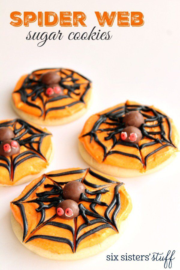 spider web sugar cookies - Halloween Stuff