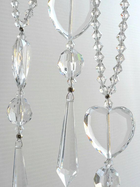 Hanging Heart Decor Acrylic Crystal Suncatchers As Car Charms Bridal Decor Heart Decoration Door Hangers Or As A Window Accent Crystal Suncatchers Heart Decorations Crystals
