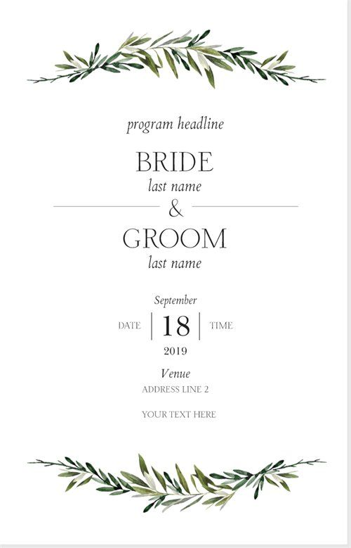 Vistaprint Wedding Programs.Wedding Programs Templates Designs Vistaprint Weddings