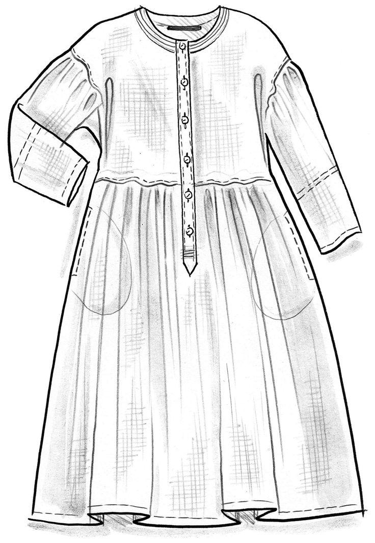 Kleid aus Öko-Leinen-Chambray – Naturschamane