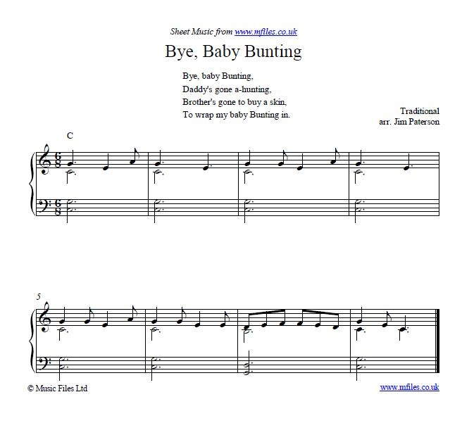 Bye Baby Bunting Nursery Rhyme And Lullaby