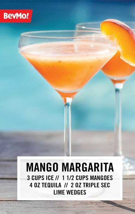 This recipe for a Mango Margarita is the epitome of a fun summer cocktail! This combination of ice, mangoes, lime juice, tequila, and triple sec from BevMo! couldn't be easier—or more delicious. What could be better than sipping on the flavor of tropical fruit?!