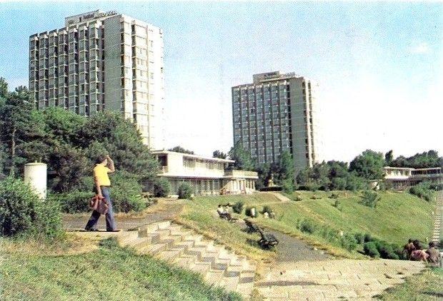 Eforie Nord - Vedere spre hotelurile Meduza si Steaua de Mare (anii '70)