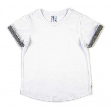 Roll Sleeve Tee - White
