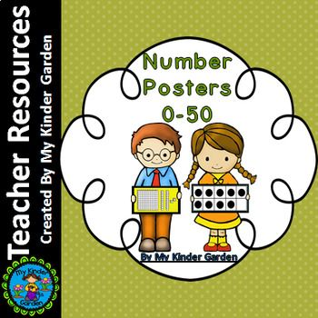 Number Math Posters 0-50 (name, base ten, ten frames, and tally marks) This is a set of number posters with the numbers 0-50. Each poster has the number in the center along with the number word and the representation of the number with tally marks, base ten blocks, and ten frames.