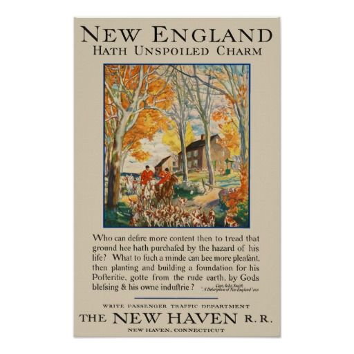 New Haven Railroad ~ New England ~ Vintage Travel Poster