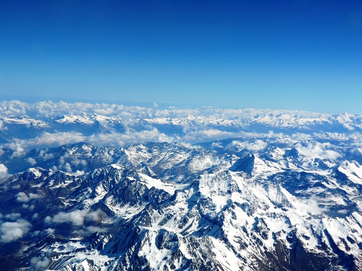 The Alps, from the plane going from Geneve to Rome-beautiful