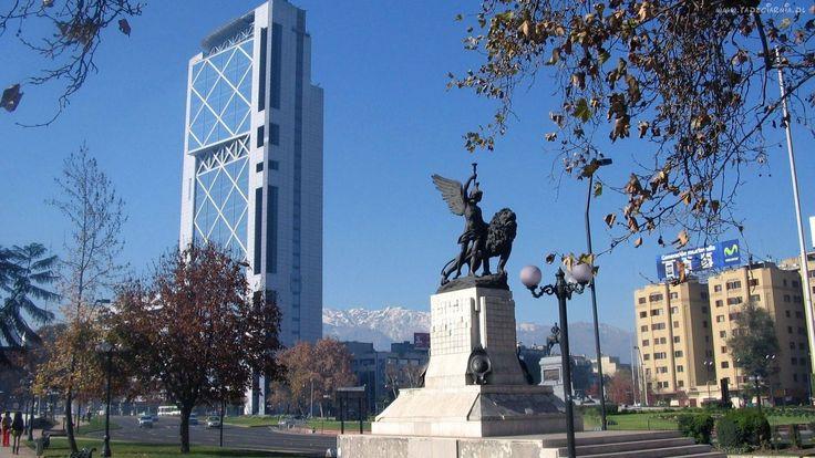 Chile, Santiago, Drapacze Chmur, Pomnik