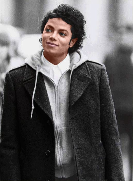 "Awww..he looks so sweet here. Michael Jackson in ""BAD"""