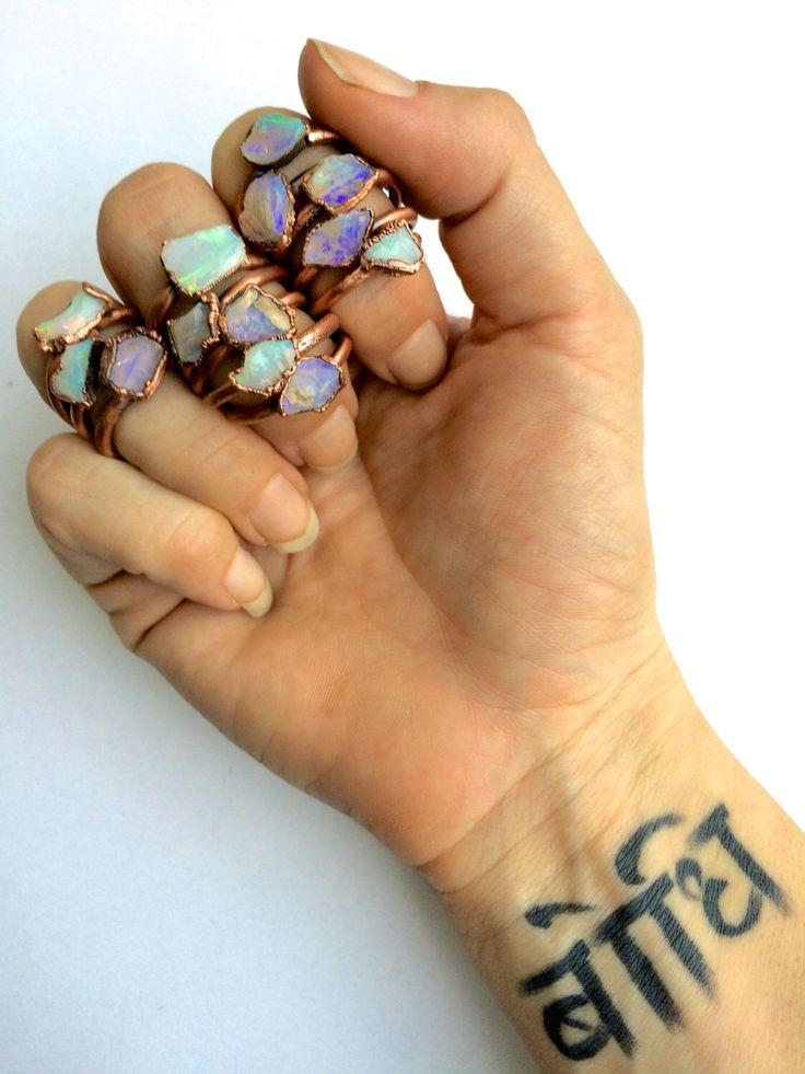 Opal rock ring | Australian opal ring | Rough opal ring | Australian fire opal jewelry | Fire opal ring | Rough Australian opal ring by HAWKHOUSE on Etsy https://www.etsy.com/listing/228724272/opal-rock-ring-australian-opal-ring