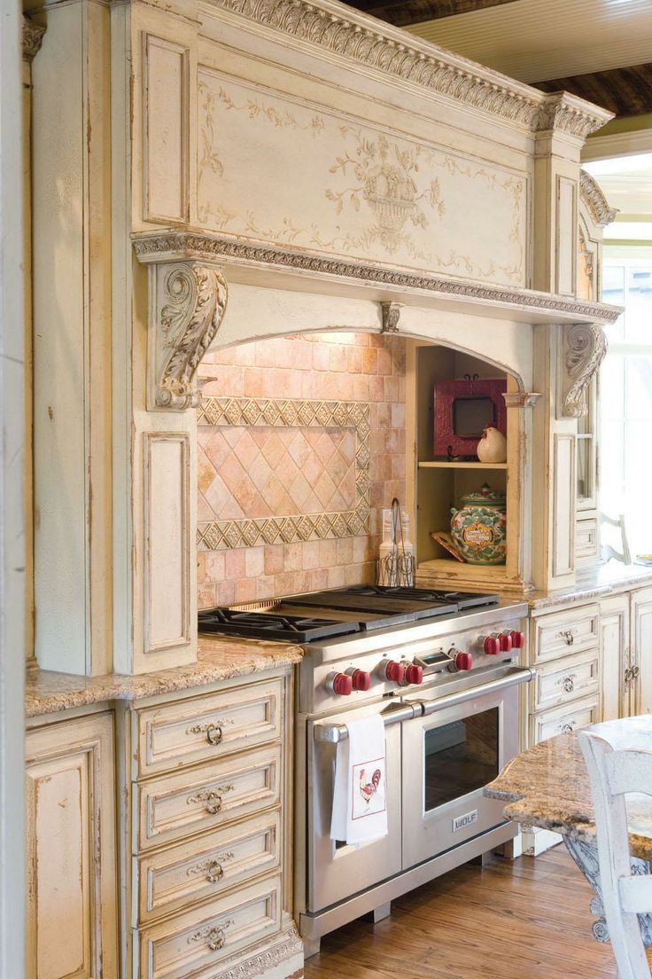 17 best images about range hoods on pinterest stove for French country white kitchen cabinets