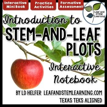 Introduce creating and solving one-step and two-step problems using stem-and-leaf plots. This interactive math notebook set focuses on the Texas TEKS 5.9A and 5.9C. Parts of this set are also appropriate for use with Texas TEKS 4.9A and 4.9B. The stem-and-leaf plots included in this math interactive notebook set use whole numbers, fractions, and decimal values.