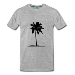Palmera en el sol playa mar Camisetas - Camiseta premium hombre