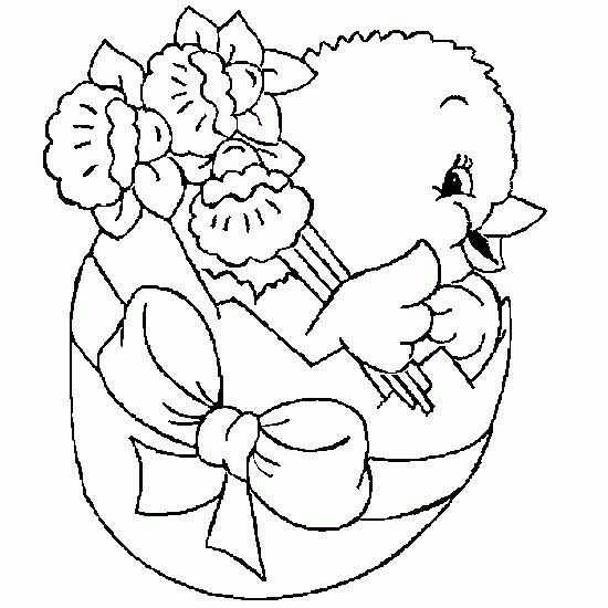 easter coloring pages | new coloring Easter with a chick in an egg - Easter coloring to ...