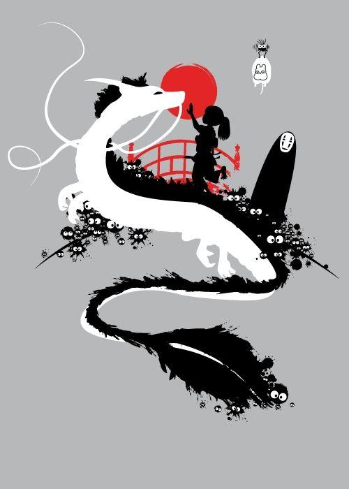 "Magical Ghibli ~ HaKu ""Dragon"" • Chihirø , No Face et… ~ Le Voyage de Chihiro ~ [❤️Studio Ghibli❤️]"