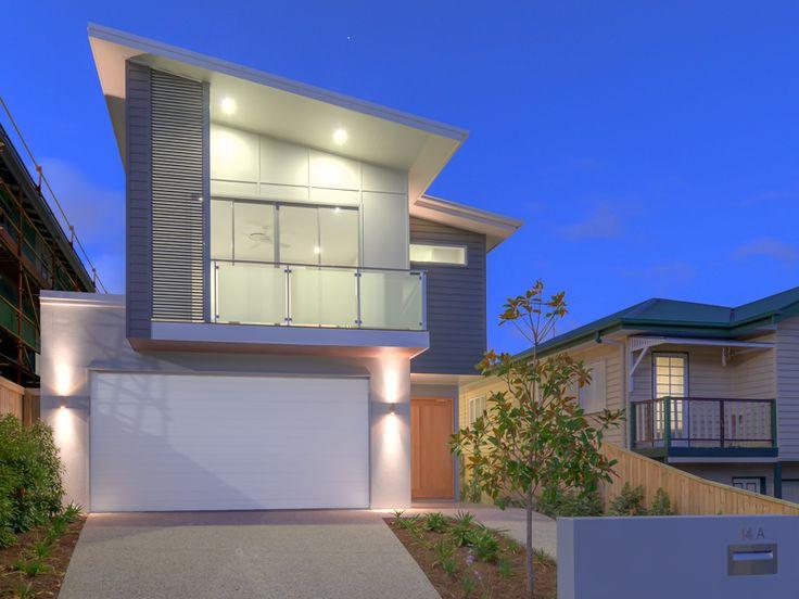 A kalka home - Moonah façade. Camphill display - Small lot home, Brisbane.