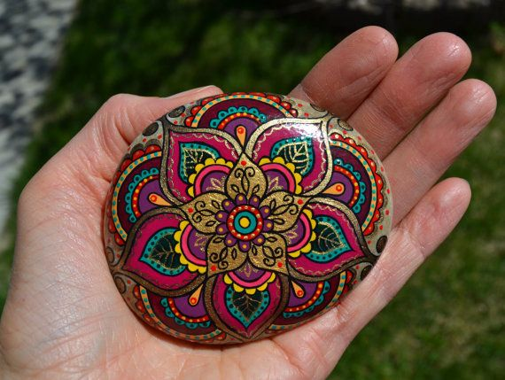 Hand Painted Rock Magic Rock Pebble by PleasureForTheSOUL