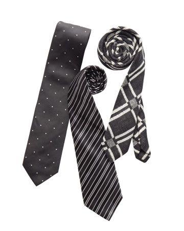 Graphic ties for the groomsmen