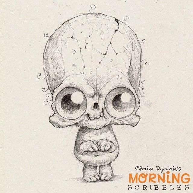 Countdown to Halloween… #morningscribbles