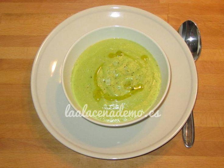 Crema de puerro y calabacín con Thermomix - Recetas Thermomix y recetas caseras - La Alacena de MO