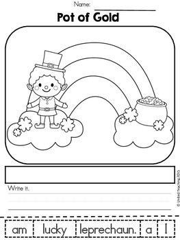 St Patrick's Day Kindergarten Worksheets Freebie
