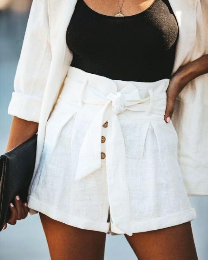Pantalones Cortos Shorts Pantalones Cortos Cintura Alta Pantalones Cortos Pantalon Corto Mujer Pantalones