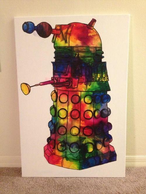 Melted crayon Dalek.