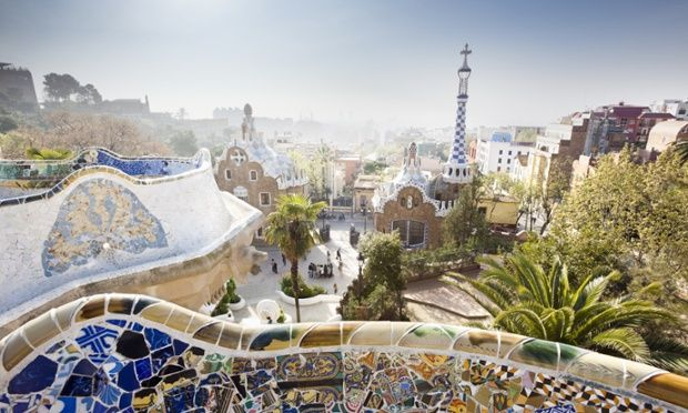 Gaudí's distinctive modernist architecture can be seen all around Barcelona, but the pinnacle of his achievements is surely Parc Güell, a series of gardens high above the city on El Carmel hill. Sit on the rippled seating, which is covered in multicoloured tiles, that runs along the park's edge and take in the view.
