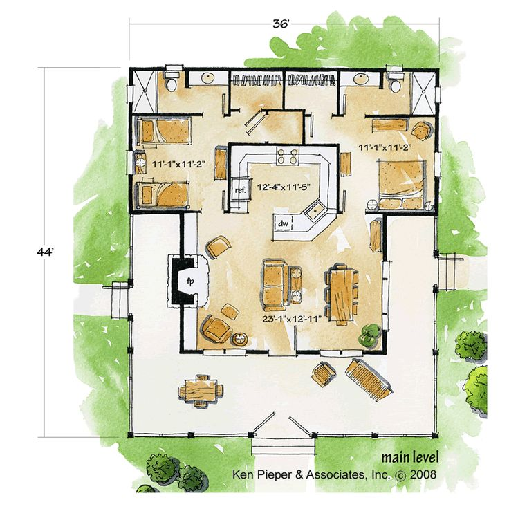 26 best favorite places spaces images on pinterest for Small bunkhouse floor plans