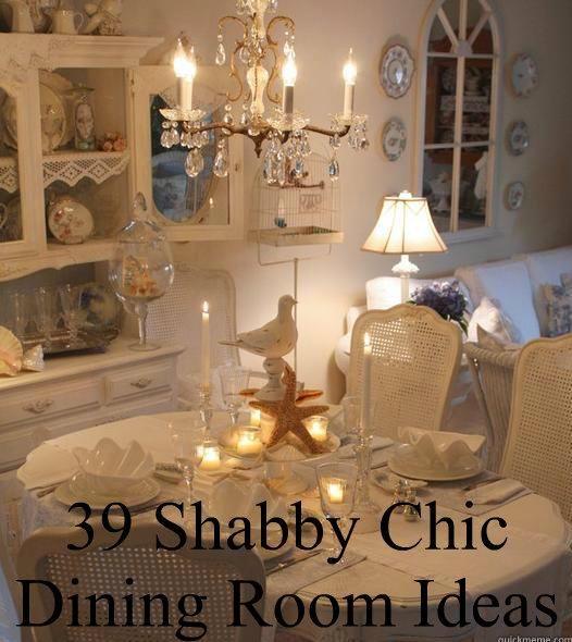 DIY Inspiration - 39 Shabby Chic Dining Room Ideas