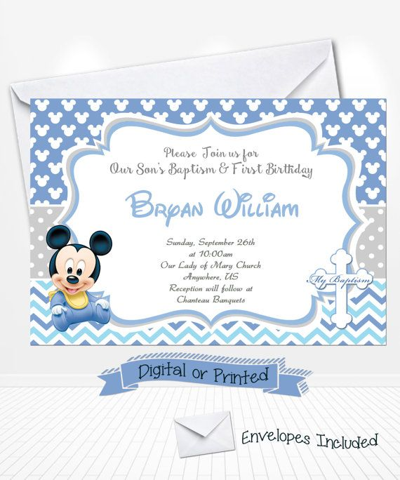 350 best Tematicas Mickey Mouse images – Baby Mickey First Birthday Invitations