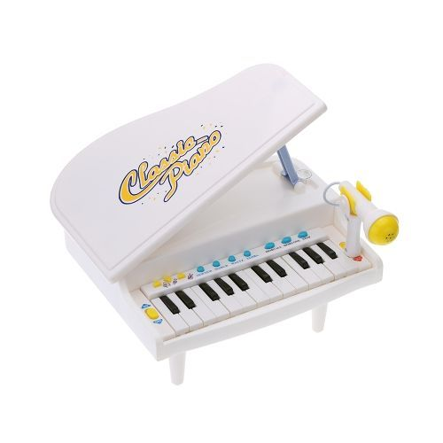 Kids 24 Keys Mini Simulation Piano Toy with Detachable Microphone Educational Musical Instrument Gift for Babies Children
