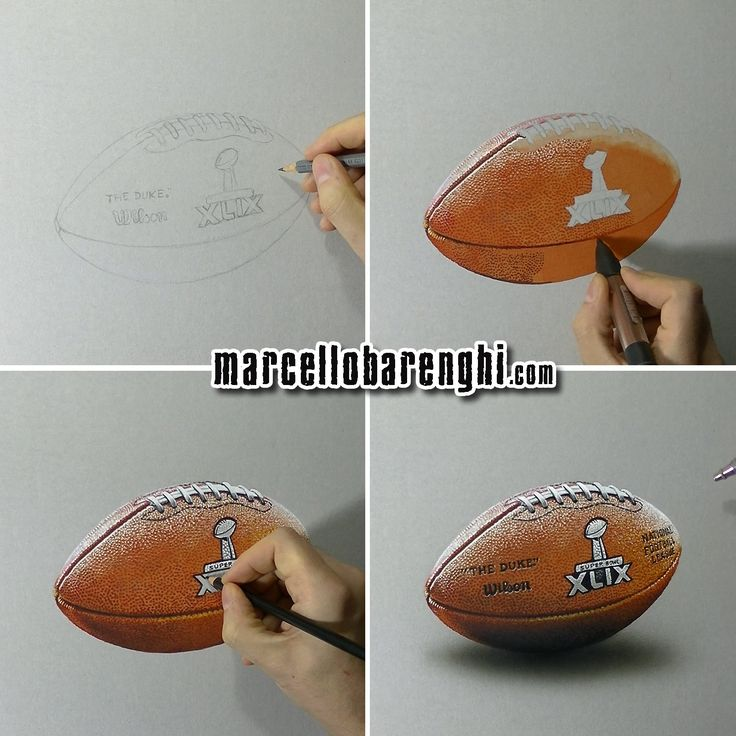 Marcello Barenghi: NFL Super Bowl XLIX Game Ball - drawing phases Watch me draw it: http://youtu.be/MfUmtORVC4s?list=UUcBnT6LsxANZjUWqpjR8Jpw
