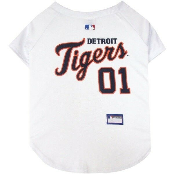Detroit Tigers Pet Jersey Mlb Clothes For Dog Cat Sizes Xs Xxl Petsfirst Dog Jersey Mlb Detroit Tigers Pets First