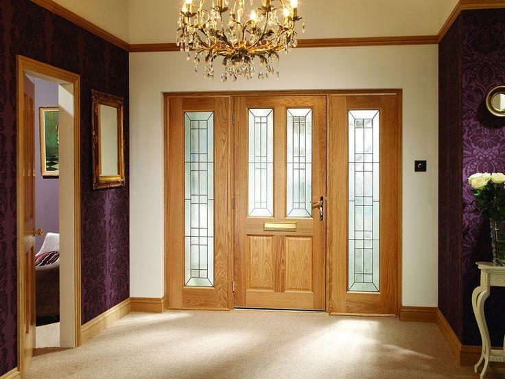Malton Oak Double Side Panel External Door Set #externaldoors