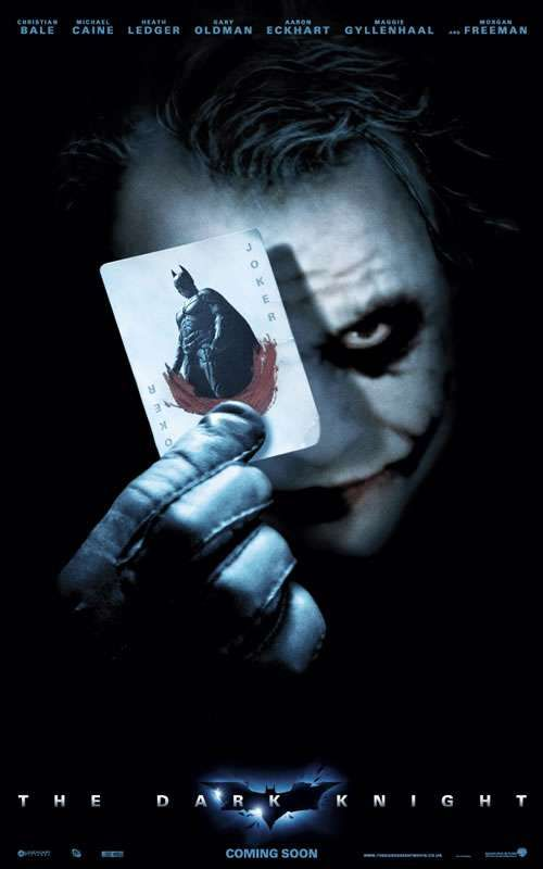 Batman: The Dark Knight (2008) Starring Christian Bale, Michael Caine, Heath Ledger, Maggie Gyllenhaal and Morgan Freeman