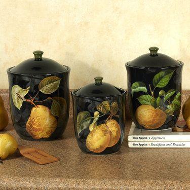 Damask Fruit Kitchen Canister Set