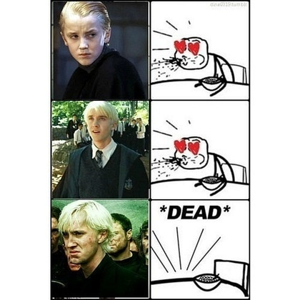 Fangirls' reaction to Tom Felton as Draco Malfoy Yes this was basically my reaction XD