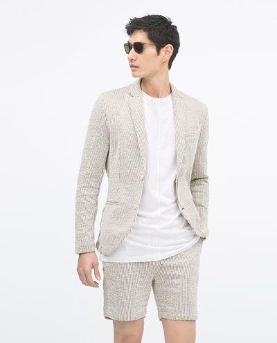 10 id es propos de veste homme zara sur pinterest manteau homme zara bagatelle d 39 t et - Blazer blanc homme ...